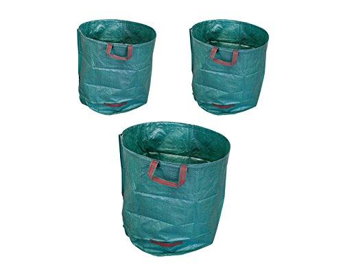 3x 270L Laubsack Gartensack Gewebetasche - Selbstaufstellend aus robustem Polyethylen