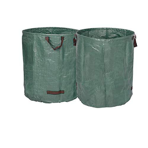 WOLTU® 2X Gartensack 500L Abfallsack Selbstaufstellend Laubsack Gartenabfälle Sack PP 150g/m² GZA1202gnQ2