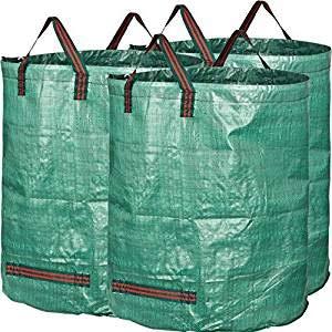 ceshi Abschließbare Wasserdichte TY Garten Tasche 272 Liter Garten mit Deckel und Deckel Green Bin Taschen für Shredder Reißfeste Faltbare