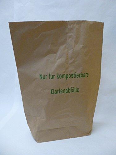 """25 St. Papier-Bioabfallsäcke 120l Format 70x95x22 cm Motiv: """"Kompostabfälle"""", 2lagig, mit extra Bodendeckblatt"""