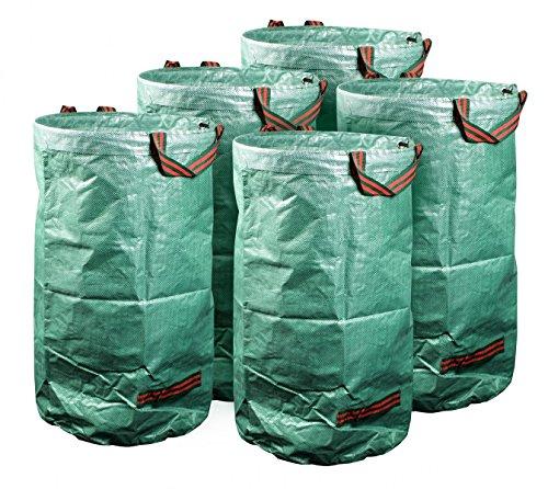 mgc24® Gartensack 120l   Stabiler Gartenabfallsack aus robustem Polypropylen Gewebe 150 g/m²   5er-Set