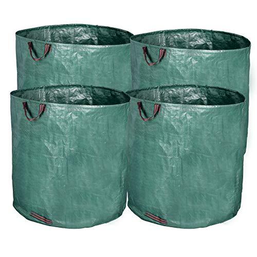 EUGAD 6er Set Gartensack, 120L Gartenabfallsack, selbststehend und faltbar, PP Abfallsäcke für Gartenabfälle Laub Rasen Pflanz