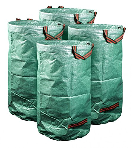 mgc24® Gartensack 120l | Stabiler Gartenabfallsack aus robustem Polypropylen Gewebe 150 g/m² | 4er-Set