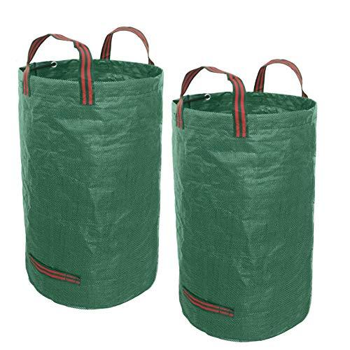Gartensack - 2stk Gartensäcke Stabile Gartenabfallsäcke aus Extrem Robustem Polypropylen-Gewebe (PP) 150gsm (120 Liter)