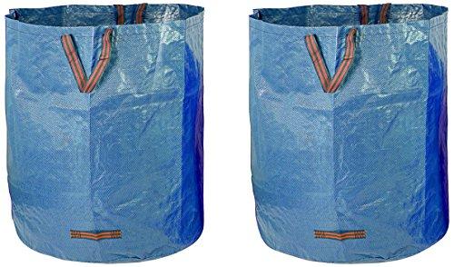 Fundwerk Garten-Abfallsack 500 L im 2er Set | Die Gartenabfallsäcke sind bestens geeignet als Laubsack und für Grünschnitt | blau