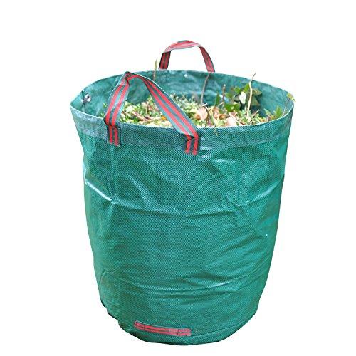 GardenTastico Gartensack mit extra 272L Fassungsvermögen und Einer Stärke von 150g/m² | Sack ist extrem wasserabweisend und reißfest - Perfekt geeignet für Garten, Gartenarbeit & Outdoor
