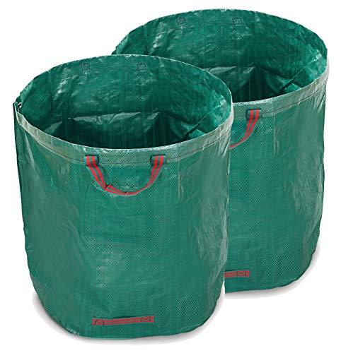 WUNDERGARDEN 2X 500L Gartenabfälle, Laub, Grünschnitt, Pflanzenabfälle, Kompost - Rundes Format, selbststehend und faltbar - Laubsäcke & Gartensäcke …
