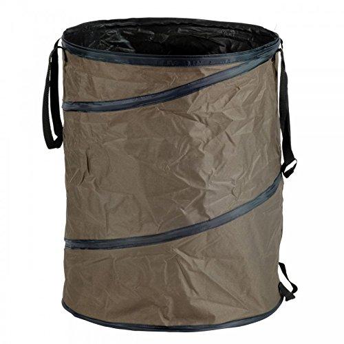 PopUp Gartenabfall-Tasche, stabile Auführung, taupe, H: 68cm, B: Ø 53cm